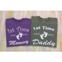 First Time Mommy Shirt, First Time Daddy T-Shirt